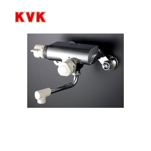 [KM159]KVK 浴室水栓 バス水栓 サーモスタット式混合栓(壁付きタイプ) 定量止水付 逆止弁 蛇口 壁付タイプ