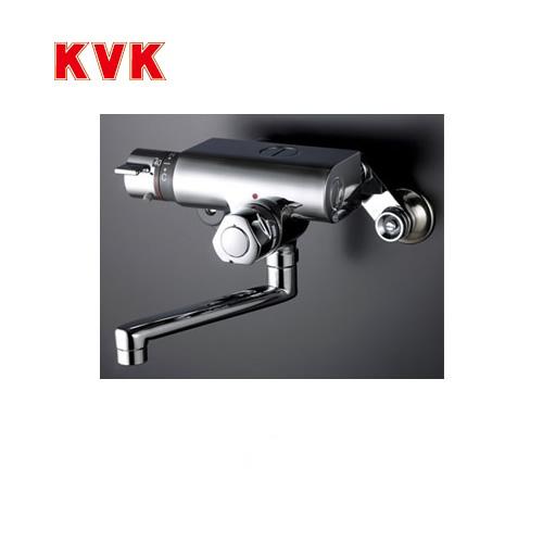[KM159G]KVK 浴室水栓 バス水栓 サーモスタット式混合栓(壁付きタイプ) 定量止水付 逆止弁 蛇口 壁付タイプ