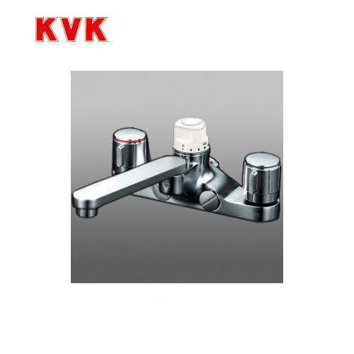 [KM296Z]KVK 浴室水栓 デッキ形定量止水付2ハンドル混合栓 デッキタイプ(台付き)  寒冷地用 おしゃれ