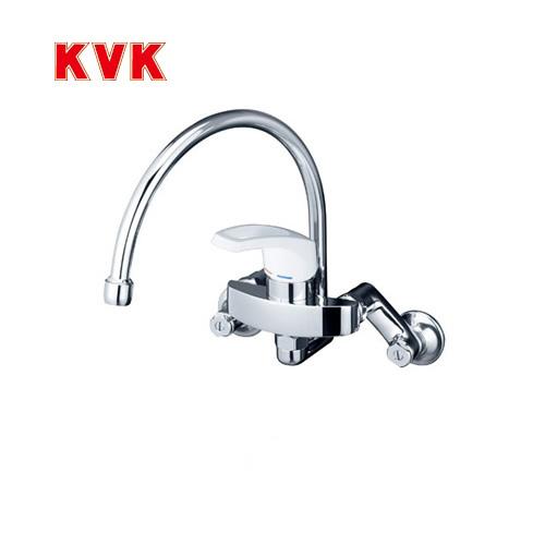 [KM5000SS]KVK キッチン水栓 キッチン用水栓 シングルレバー式混合栓 スワン型パイプ 泡沫 逆止弁 キッチン用 混合水栓 キッチン 水栓 蛇口 キッチン水栓金具 壁付けタイプ おしゃれ