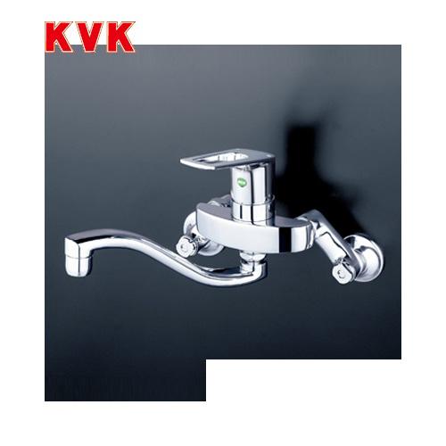 [KM5000THEC]KVK キッチン水栓 シングルレバー式混合栓 壁付タイプ eレバー おしゃれ