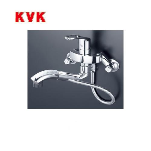 [KM5000TTP]KVK キッチン水栓 キッチン用水栓 シングルレバー式シャワー付混合栓 オープンホース式 快適節水シャワー 逆止弁 キッチン用 混合水栓 キッチン 水栓 蛇口 キッチン水栓金具 壁付けタイプ おしゃれ