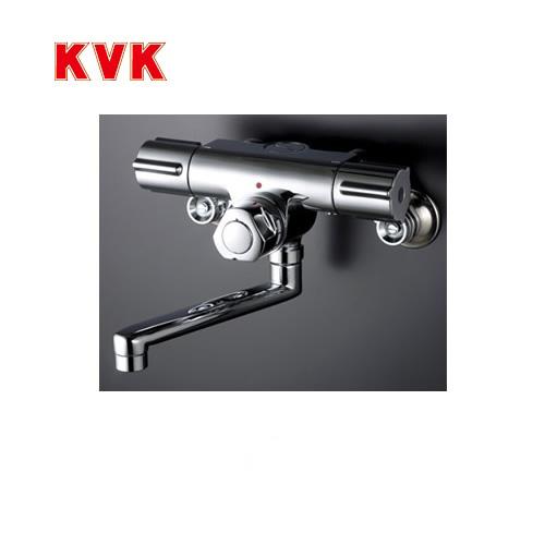 [KM59G]KVK 浴室水栓 バス水栓 サーモスタット 2ハンドル混合栓(壁付きタイプ) 定量止水付 逆止弁 蛇口 壁付タイプ