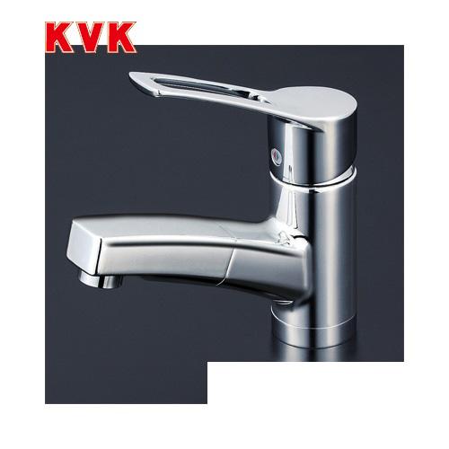 [KM8001T]KVK 洗面水栓 洗面用シングルレバー式混合栓 セラミックシングル ワンホールタイプ 逆止弁付 泡沫吐水 【送料無料】 おしゃれ 洗面台 蛇口