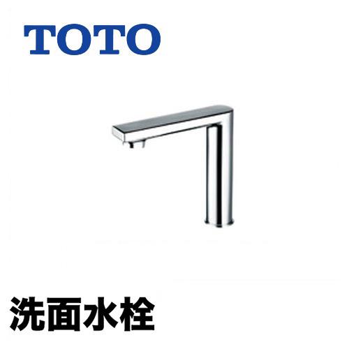 【工事対応不可】[TENA22FL]TOTO 洗面水栓 ワンホールタイプ アクアオート(自動水栓) サーモスタット混合栓 AC100Vタイプ 排水栓なし コンテンポラリタイプ(平) 洗面台 洗面所 蛇口 おしゃれ