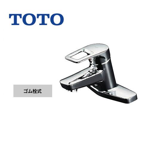 [TLHG30EG] TOTO 洗面水栓 台付き2穴タイプ ツーホールタイプ 取り替え用 台付シングル混合水栓 スパウト長さ120mm エコシングル水栓 取替用 一般地 ゴム栓