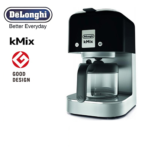 [COX750J-BK] デロンギ コーヒーメーカー kMix ケーミックス ドリップコーヒーメーカー 抽出杯数:1~6杯 (125mL×6杯) ステンレスフィルター リッチブラック