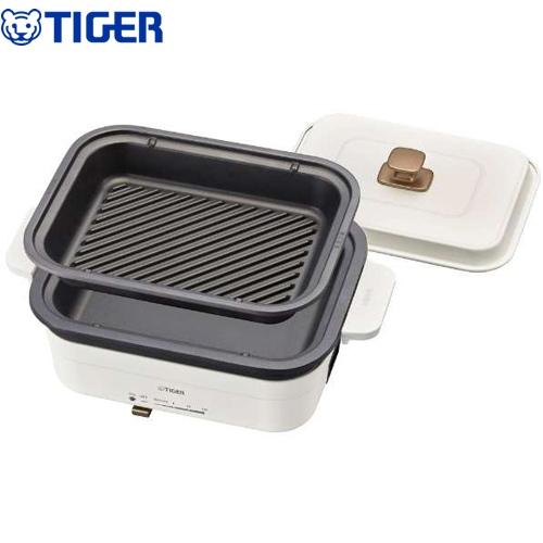 [CRL-A200-WC] タイガー ホットプレート Dining PLATE ダイニングプレート ホットプレート 深さ約46mmなべ なべ3年保証 セラミックホワイト 【送料無料】