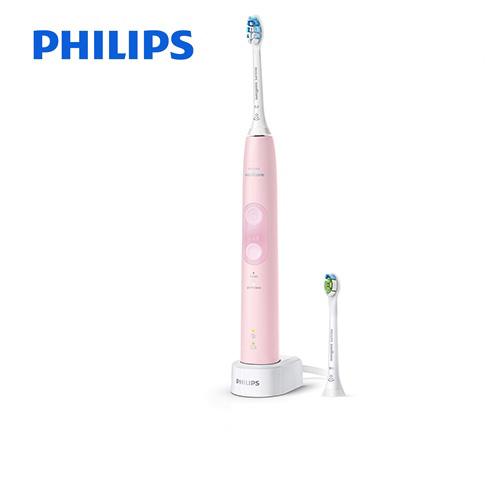 [HX6456-69] フィリップス 電動歯ブラシ Sonicare ProtectClean ソニッケアープロテクトクリーン<プラス> 充電式電動歯ブラシ 過圧防止センサー 2つのモード パステルピンク