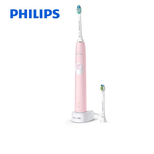 [HX6806-65] フィリップス 電動歯ブラシ Sonicare ProtectClean ソニッケアープロテクトクリーン 充電式電動歯ブラシ 過圧防止センサー 1つのモード パステルピンク