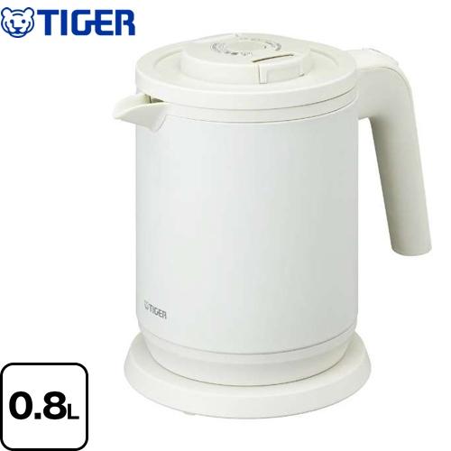 [PCK-A080-WM] タイガー 電気ケトル・ポット Premium Kettle わく子 蒸気レス電気ケトル 0.8L ハイエンドモデル マットホワイト 【送料無料】