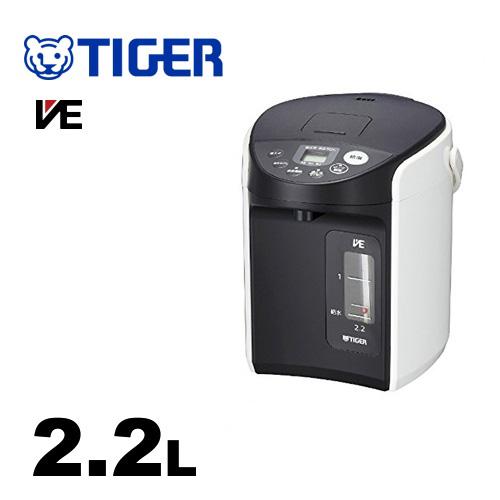 無料3年保証付き 電気ケトル ポット PIQ-A220-W タイガー とく子さん 人気上昇中 節電タイマー VE電気まほうびん VEまほうびん構造 輸入 ホワイト 容量:2.2L 高真空2重瓶