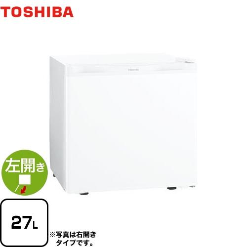 [GR-HB30PAL-WU] 東芝 冷蔵庫 左開きタイプ 容量27L 1ドア冷蔵庫 【1~2人向け】 【小型】 ホワイト 【送料無料】【特別配送】