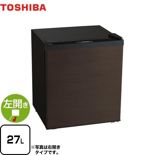 [GR-HB30PTL-TS] 東芝 冷蔵庫 左開きタイプ 容量27L 1ドア冷蔵庫 【1~2人向け】 【小型】 ブラウン 【送料無料】【特別配送】