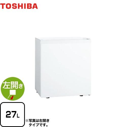 [GR-HB30PTL-WU] 東芝 冷蔵庫 左開きタイプ 容量27L 1ドア冷蔵庫 【1~2人向け】 【小型】 ホワイト 【送料無料】【特別配送】
