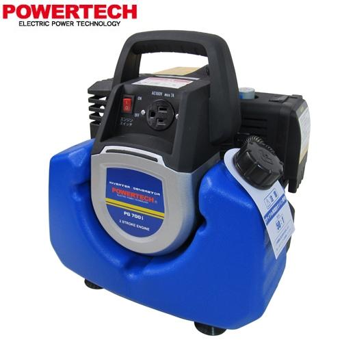[PG700I] パワーテック 発電機 ガソリン燃料 発電機 燃料タンク容量:2.3L PGシリーズ PG700i インバーター 発電機 【送料無料】