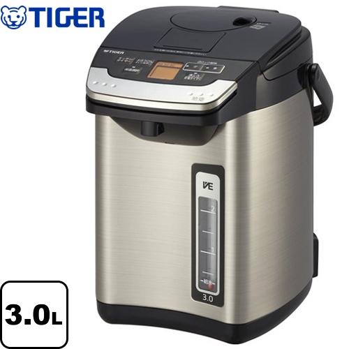 [PIG-J300-K] タイガー 電気ケトル・ポット 蒸気レスVE電気まほうびん 容量:3.0L とく子さん 魔法瓶 お湯計量機能 ブラック 【送料無料】