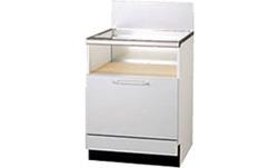 UKC-603-SLリンナイ2段引出式(後板スライドタイプ)システムアップキャビネットメラミン樹脂扉※ガスコンロ本体をご購入のお客様のみの販売となります