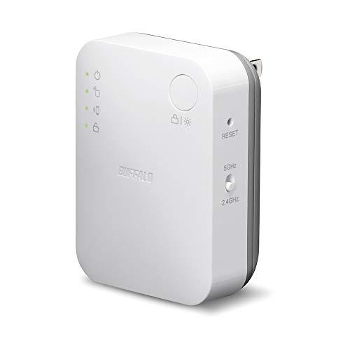 バッファロー 中継機 Buffalo 中継器 無線中継機 WiFi 無線LAN WEX-733DHP/N 11ac 433+300Mbps コンセント直挿し 据え置き可能モデル
