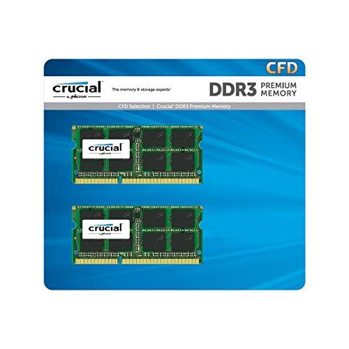 CFD販売 ノートPC用メモリ 流行 PC3L-12800 DDR3L-1600 8GB×2枚 240Pin 1.35V Micron 無期限保証 Crucial 1.5V両対応 W3N1600CM-8G 受賞店 by