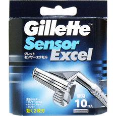 安全 マイクロフィンがヒゲを引き出し刃に受け渡します ジレット センサーエクセル 替刃10個入 ※ラッピング ※