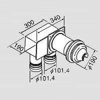 TFW-100A1-C(K)L 200C(K)L   ノーリツ 給排気トップ 0705571