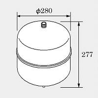 【サイズ交換OK】 ノーリツ 密閉式膨張タンク BT-12M, フォーラル 05cbcd7e