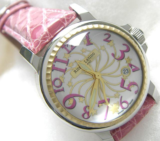 【男女兼用!女性に人気のRitmo Latino(リトモラティーノ)腕時計stella(ステラ)ピンク・レギュラーサイズ(ボーイズ)】リトモ人気の定番腕時計!