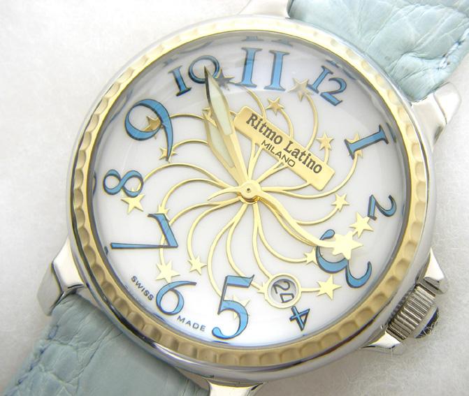 【男女兼用!女性に人気のRitmo Latino(リトモラティーノ)腕時計stella(ステラ)ブルー・レギュラーサイズ(ボーイズ)】リトモ人気の定番腕時計!