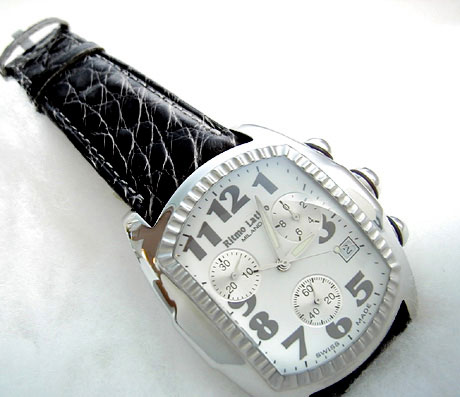 【モデルサイズの女性にも人気のRitmo Latino(リトモラティーノ)腕時計classico(クラシコ・ラージサイズ(メンズ)・ブラック】リトモ人気の定番腕時計!【送料無料】※北海道・沖縄・離島を除く