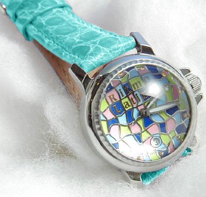 【男女兼用!女性に人気のRitmo Latino(リトモラティーノ)腕時計MOSAICO(モザイコ)ターコイズブルーバンド・DOME・レギュラーサイズ(男女兼用サイズ)】リトモ人気の腕時計!【送料無料】