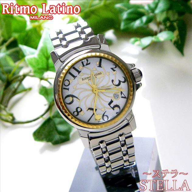 【男女兼用!女性に人気のRitmo Latino(リトモラティーノ)腕時計stella metal(ステラ メタル)ブラック・レギュラーサイズ(ボーイズ)】リトモ人気の定番メタルバンド腕時計!