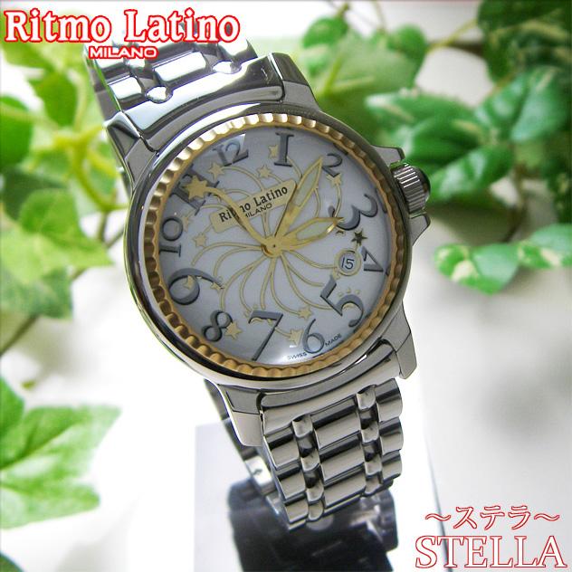 【モデルサイズの女性にも人気のRitmo Latino(リトモラティーノ)腕時計stella metal(ステラ メタル)グレー・ラージサイズ(メンズ)】リトモ人気の定番メタルバンド腕時計!