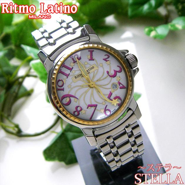 【男女兼用!女性に人気のRitmo Latino(リトモラティーノ)腕時計stella metal(ステラ メタル)ピンク・レギュラーサイズ(ボーイズ)】リトモ人気の定番メタルバンド腕時計!