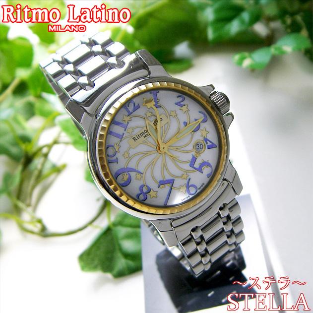 【男女兼用!女性に人気のRitmo Latino(リトモラティーノ)腕時計stella metal(ステラ メタル)パープル・レギュラーサイズ(ボーイズ)】リトモ人気の定番メタルバンド腕時計!