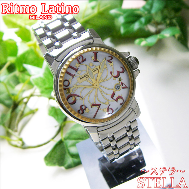 【男女兼用!女性に人気のRitmo Latino(リトモラティーノ)腕時計stella metal(ステラ メタル)レッド・レギュラーサイズ(ボーイズ)】リトモ人気の定番メタルバンド腕時計!【送料無料】