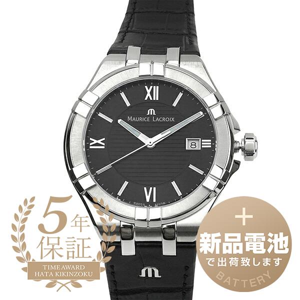 モーリスラクロア 腕時計 25%OFF アイコン デイト AI1008-SS001-330-1 MAURICE LACROIX メンズ 時計 送料無料 公式ショップ ブランド ブラック AIKON DATE 新品