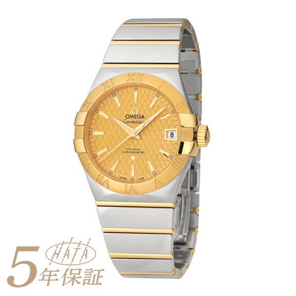 AL完売しました オメガ 腕時計 コンステレーション 123.20.38.21.08.002 OMEGA メンズ 時計 ブランド CONSTELLATION イエロー 送料無料 新品 与え