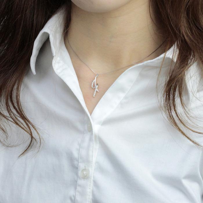 送料無料 ダイヤモンド ネックレス プラチナ PT 0 160ct 4月誕生石 レディース ウェーブ ラッピング無料 ギフト包装u3FTKJ1cl