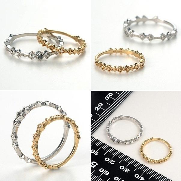 アチエ ゴールド ペアリング 婚約指輪 結婚指輪 エンゲージリング ダイヤモンド 彼女 彼氏 レディース メンズ カップル ペア 誕生日プレゼント 記念日 ギフトラッピング Ache ブランド