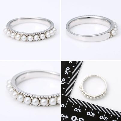 J luxe ジェイリュクス ホワイトゴールド リング 指輪 6月誕生石 パール・真珠 ホワイト 彼女 レディース