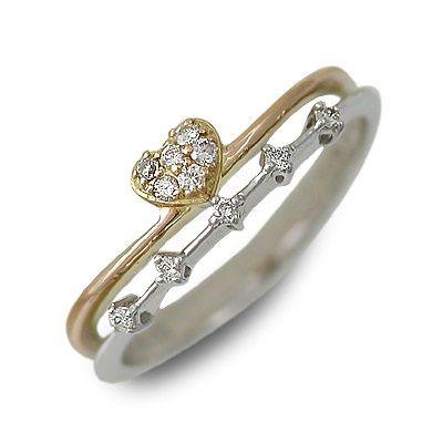 isu イス ホワイトゴールド リング 指輪 ホワイト 20代 30代 彼女 レディース ハート 母の日 花以外
