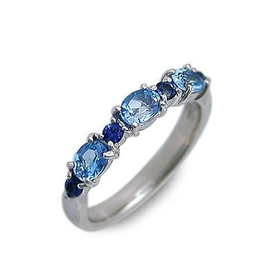 isu イス ホワイトゴールド リング 指輪 ブルー 20代 30代 彼女 レディース 人気 ブランド