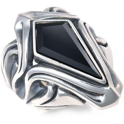 M's collection エムズコレクション シルバー リング 指輪 オニキス ホワイト 彼氏 メンズ