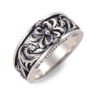 M's collection エムズコレクション シルバー リング 指輪 ブラック 彼氏 メンズ 父の日