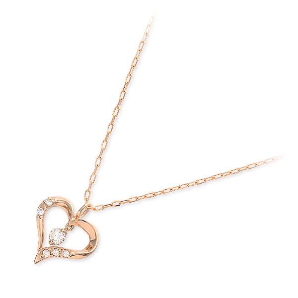 ギフト ラッピング 往復送料無料 セットアップ 対応 女性 彼女 ダイヤモンド シンプル レディース バースデーコレクション ネックレス ピンク