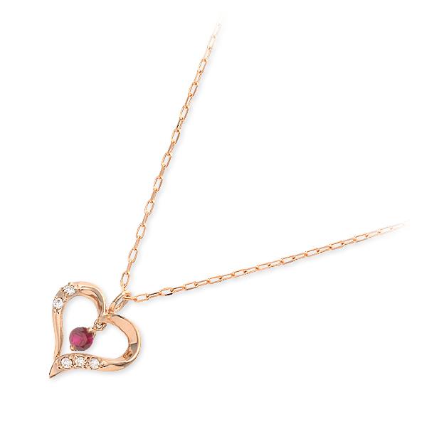 バースデーコレクション ネックレス ルビー ピンク 20代 30代 彼女 レディース 人気 ブランド 母の日