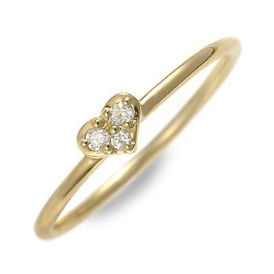 アチエ ゴールド リング 指輪 ダイヤモンド イエロー 彼女 レディース ハート 母の日 2020