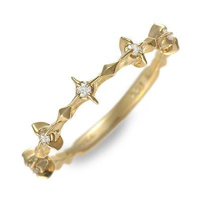 アチエ ゴールド リング 指輪 イエロー 20代 30代 彼女 レディース クロス 人気 ブランド 母の日 花以外