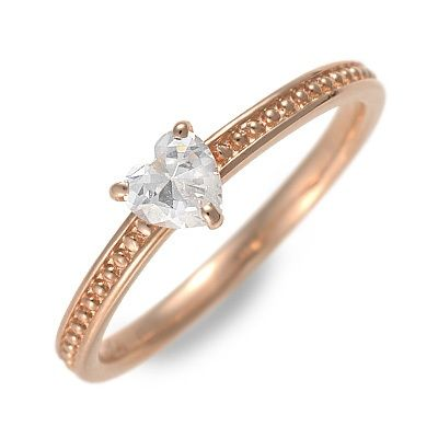 Ache ピンクゴールド リング 指輪 婚約指輪 結婚指輪 エンゲージリング ハート 20代 30代 彼女 レディース 女性 誕生日プレゼント 記念日 ギフトラッピング あす楽 アチエ 送料無料